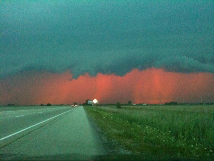Storm on the way to Leamington